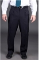 Men's 70% Polyester/30% Wool Pleated Front Pant