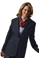 Ladies Polyester Single Breasted Blazer