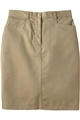 "Ladies 25"" PolyCotton Chino Skirt"