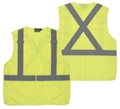 ANSI Class 2 Velcro 5 Point Break-Away Polyester Tricot Vest With 3 Pockets