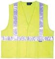 ANSI Class 2 High Gloss Trim Safety Vest w/Pockets