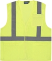 ANSI Class 2 Ecomony Velcro Mesh Vest with 3 Pockets