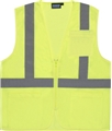 ANSI Class 2 Ecomony Zipper Vest with 3 Pockets
