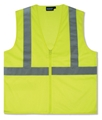 ANSI Class 2 Economy Zipper Mesh Vest/No Pockets