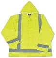 ANSI Class 3 Snap Front Closure Rain Jacket