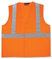 ANSI Class 2 Ecomony Velcro Solid Woven Vest with 3 Pockets