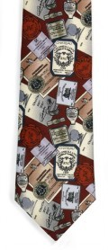 "Men's ""Wine Labels"" Necktie"