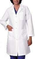 Ladies Belted Back Lab Coat