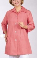 Ladies 3/4 Sleeve Utility Smock w/Pearl Buttons