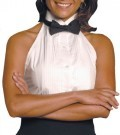 "Ladies Wing Collar Halter Tuxedo Shirt w/1/4"" Pleats"